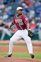 March 29, 2011:   Florida State Seminoles rhp Hunter Scantling (30) throws in the first inning during action between Florida Gators and Florida State Seminoles played at the Baseball Grounds of Jacksonville in Jacksonville, Florida.  Florida State defeated Florida 5-2............
