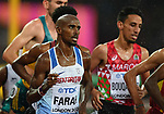 Mo Farah (GBR) in the mens 5000m heats. IAAF world athletics championships. London Olympic stadium. Queen Elizabeth Olympic park. Stratford. London. UK. 09/08/2017. ~ MANDATORY CREDIT Garry Bowden/SIPPA - NO UNAUTHORISED USE - +44 7837 394578