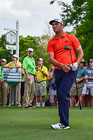 Jon Rahm (ESP) watches his tee shot on 10 during round 3 of the Shell Houston Open, Golf Club of Houston, Houston, Texas, USA. 4/1/2017.<br /> Picture: Golffile | Ken Murray<br /> <br /> <br /> All photo usage must carry mandatory copyright credit (&copy; Golffile | Ken Murray)
