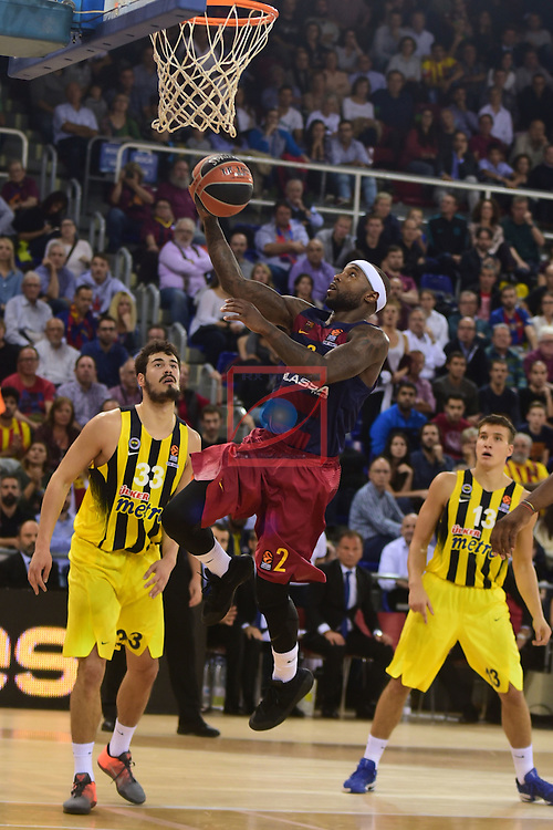 Turkish Airlines Euroleague 2016/2017.<br /> Regular Season - Round 2.<br /> FC Barcelona Lassa vs Fenerbahce Istanbul: 72-73.<br /> Nicola Kalinic vs Tyrese Rice.