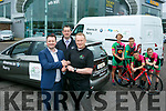 Paul Ahern, dealer principal presented the keys of the team vehicles, to the Killarney RAS Team 2017, Team Manager Joe O'Shea, with  Barry Ryan, Opal Sales Manager and members of the team Richard Maze, Marcus Tracey,Lee Houdini, Eoin O'Connell