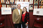 Stewart F. Lane and Bonnie Comley attend the 2017 Drama League Award Nominees Announcements at Sardi's on April 19, 2017 in New York City.