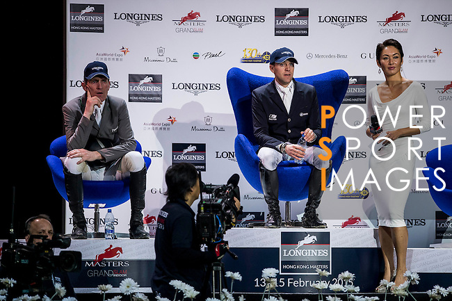 Gerco Schroder of Netherlands rides Glock's London N.O.P. action at the Longines Grand Prix during the Longines Hong Kong Masters 2015 at the AsiaWorld Expo on 15 February 2015 in Hong Kong, China. Photo by Juan Flor  / Power Sport Images