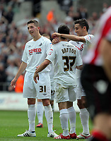 Pictured: Saturday 07 May 2011<br /> Re: Swansea City FC v Sheffield United, npower Championship at the Liberty Stadium, Swansea, south Wales.