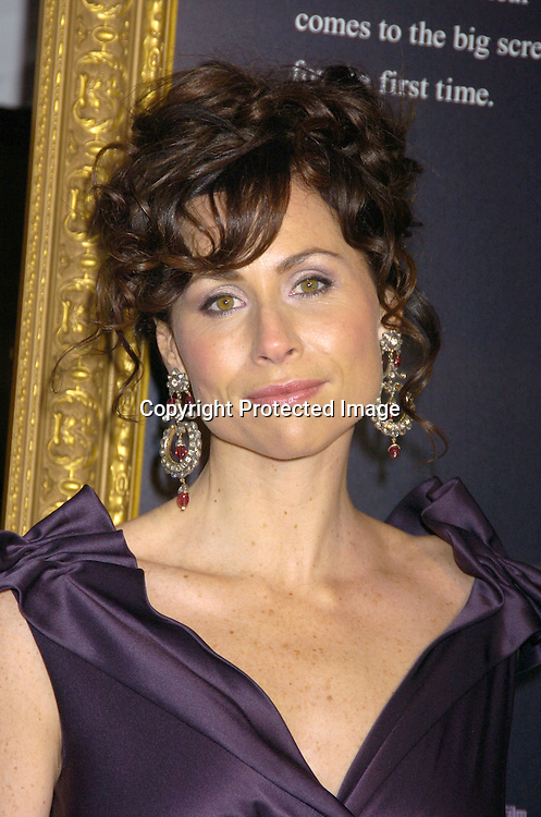 "Minnie Driver ..at The New York Premiere of ""Phantom of the Opera"" on ..December 12, 2004 at the Ziegfeld Theatre. ..Photo by Robin Platzer, Twin Images"