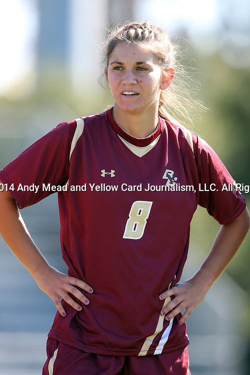 26 October 2014: Boston College's Jill Lutz. The Duke University Blue Devils hosted the Boston College University Eagles at Koskinen Stadium in Durham, North Carolina in a 2014 NCAA Division I Women's Soccer match. Duke won the game 2-1 in overtime.