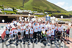 Participants of The Mile in Memory walk in Rossbeigh last Sunday.