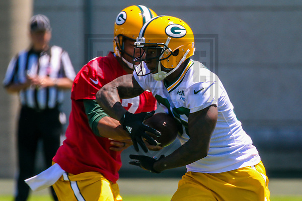 Green Bay Packers running back Jamaal Williams (30) during an OTA on June 1, 2017 at Clark Hinkle Field in Green Bay, Wisconsin. (Brad Krause/Krause Sports Photography)