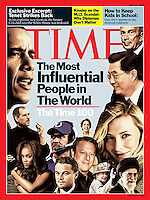 TIME magazine's cover of May 14, 2007 features 'The Time 100...The Most Influential People in The World'. The photo of Chinese president Hu Jintao is by Lucas Schifres