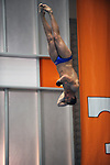 26 MAR 2011: Senior Nick Halbach of the United States Merchant Marine Academy competes in the 3 Meter diving finals during the Division III Menís and Womenís Swimming and Diving Championship held at Allan Jones Aquatic Center in Knoxville, TN. Halbach finished first with a NCAA record score of 591.65. David Weinhold/NCAA Photos