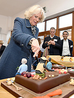 Camilla Duchess of Cornwall visit to the Lambeth GP Food Co-op Garden