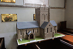 Early English architecture from the 13th century model of church of Saint Mary, Potterne, Wiltshire, England, UK