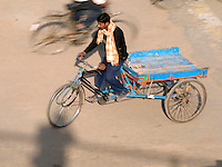 Pedal powered transportation in Varanasi, Uttar Pradesh, India