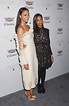 LOS ANGELES, CA - FEBRUARY 23: Actress Zoe Saldana (L) and sister-producer Cisely Saldana attend Cadillac's 89th annual Academy Awards celebration at Chateau Marmont on February 23, 2017 in Los Angeles, California.