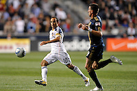 Landon Donovan (10) of the Los Angeles Galaxy. The Philadelphia Union  and the Los Angeles Galaxy played to a 1-1 tie during a Major League Soccer (MLS) match at PPL Park in Chester, PA, on May 11, 2011.