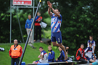 FIERLJEPPEN: IT HEIDENSKIP: 03-06-2013, 1e Klas wedstrijd, Senioren Topklasse, ©foto Martin de Jong