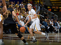 Hind Ben Abdelkader of California dribbles the ball during the game against Long Beach State at Haas Pavilion in Berkeley, California on November 8th, 2013.  California defeated Long Beach State, 70-51.