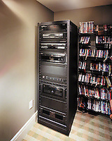 Media Library With DVD Rack