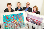 Winners of the Kerry's Eye John Hurley painting draw collected their paintings in Kerry's on Tuesday from left Margaret Kelleher, Upper Lissivigeen, Killarney, Colin Lacey, Editor Kerry's Eye, Berndan Kennelly, Marketing Manager Kerry's Eye and Helen Lawless, Mounthawk Tralee,