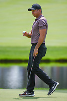 Jason Day (AUS) after sinking his putt on 3 during 2nd round of the World Golf Championships - Bridgestone Invitational, at the Firestone Country Club, Akron, Ohio. 8/3/2018.<br /> Picture: Golffile | Ken Murray<br /> <br /> <br /> All photo usage must carry mandatory copyright credit (© Golffile | Ken Murray)