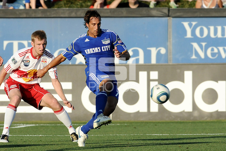 Josh Wolff...Kansas City were defeated 3-0 by New York Red Bulls at Community America Ballpark, Kansas City, Kansas.