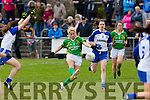 In Action Kerry's Bernie Breen goes for a point at the  Senior ladies football Kerry V Monaghan at Desmonds  Castleisland GAA Ground on Sunday
