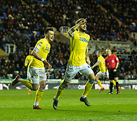 Leeds United's Mateusz Klich celebrates scoring his side's first goal <br /> <br /> Photographer David Horton/CameraSport<br /> <br /> The EFL Sky Bet Championship - Reading v Leeds United - Tuesday 12th March 2019 - Madejski Stadium - Reading<br /> <br /> World Copyright © 2019 CameraSport. All rights reserved. 43 Linden Ave. Countesthorpe. Leicester. England. LE8 5PG - Tel: +44 (0) 116 277 4147 - admin@camerasport.com - www.camerasport.com