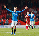 Myles Beerman celebrates at the end