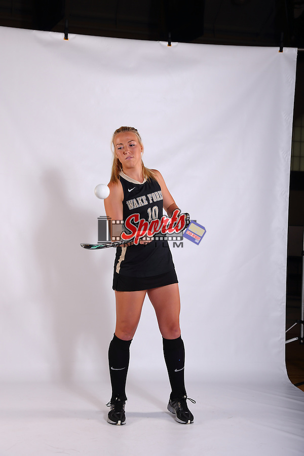 Madi Julius (10) of the Wake Forest Demon Deacons poses for photos in Budd Gymnasium on the campus of Wake Forest University on April 30, 2015 in Winston-Salem, North Carolina.  (Brian Westerholt/Sports On Film)