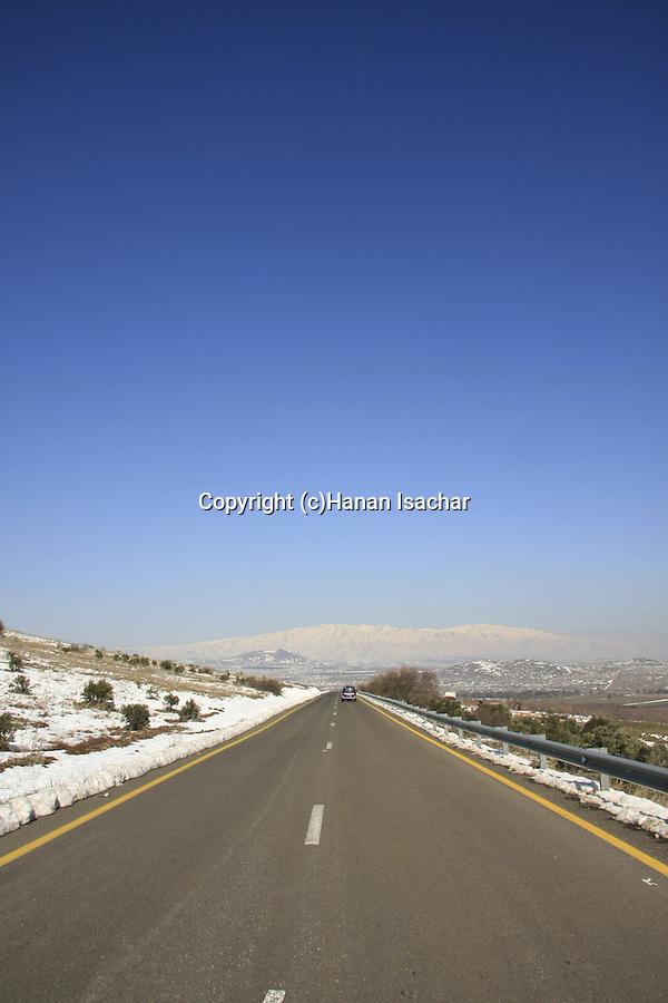 Golan Heights, road 98 to Mount Hermon