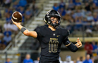 CONWAY VS BENTONVILLE  - Ben Pankau of Bentonville throws the ball against Conway at Tiger Stadium, Bentonville, AR, on Friday September 6. 2019,   Special to NWA Democrat-Gazette/ David Beach