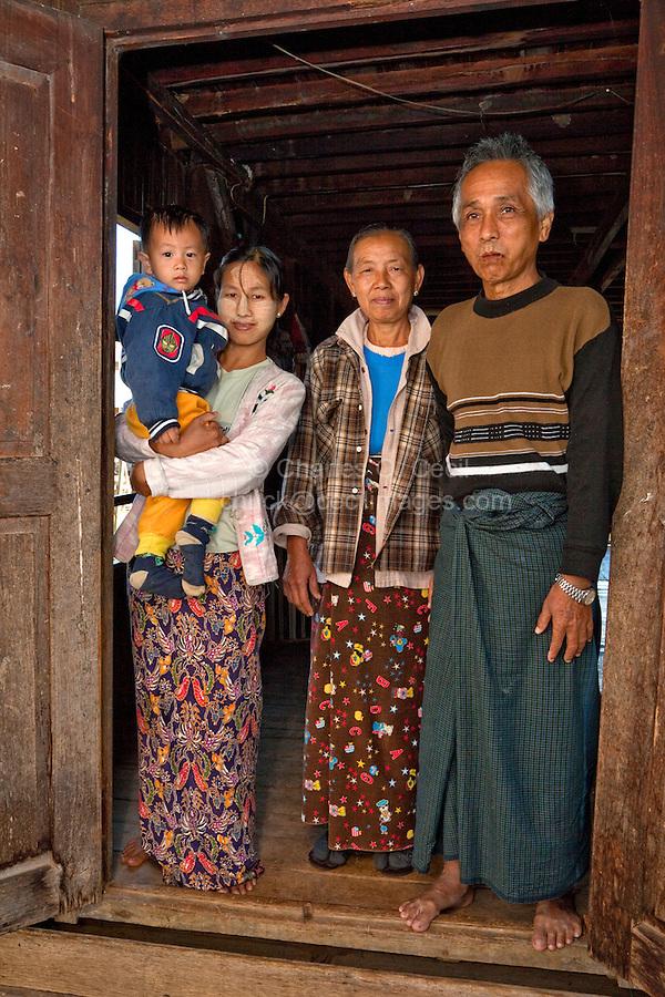 Myanmar Burma Inle Lake People Children Market Housing Cecil Images