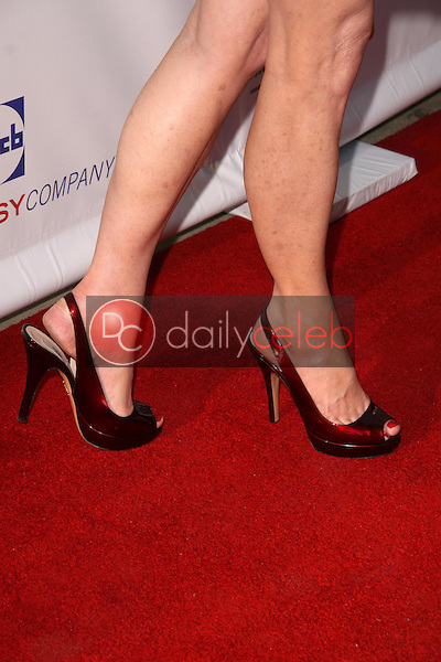 Dana Delany's shoes<br />at the 8th Annual Comedy for A Cure, a Benefit to raise Funds and Awareness for the Tuberous Sclerosis Alliance. Boulevard3, Hollywood, CA. 04-05-09<br />Dave Edwards/DailyCeleb.com 818-249-4998