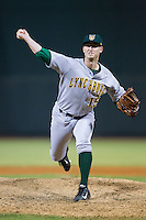Lynchburg Hillcats relief pitcher David Peterson (15) in action against the Winston-Salem Dash at BB&T Ballpark on August 13, 2014 in Winston-Salem, North Carolina.  The Hillcats defeated the Dash 4-3.   (Brian Westerholt/Four Seam Images)