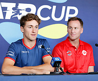 2nd January 2020; RAC Arena , Perth, Western Australia, Australia; ATP Cup Team Press conferences, Spain; Casper Ruud of Norway speaks at the teams press conference - Editorial Use