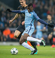 Kelechi Iheanacho of Manchester City scores his goal during the UEFA Champions League GROUP match between Manchester City and Celtic at the Etihad Stadium, Manchester, England on 6 December 2016. Photo by Andy Rowland.