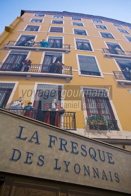 Europe/France/Rhône-Alpes/69/Rhône/Lyon: La fresque des lyonnais rue de la Martinière -