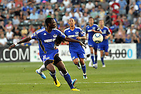 Birahim Diop...Kansas City Wizards defeated New England Revolution 4-1 at Community America Ballpark, Kansas City, Kansas.