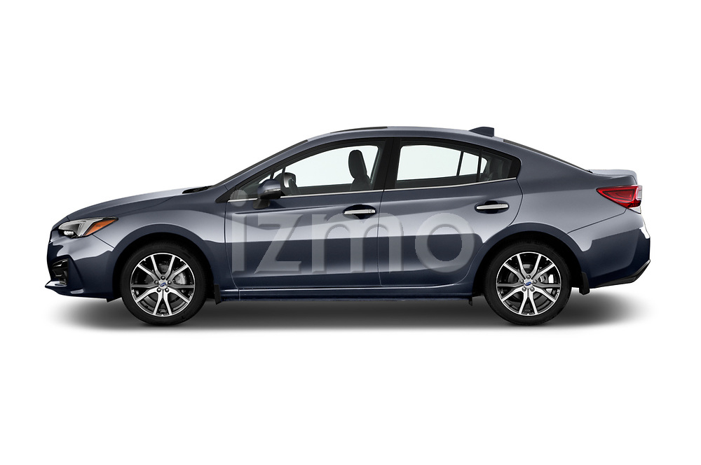 Car Driver side profile view of a 2017 Subaru Impreza 2.0i-Limited-CVT-PZEV 4 Door Sedan Side View
