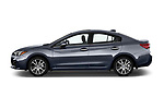 Car Driver side profile view of a 2018 Subaru Impreza 2.0i-Limited-CVT-PZEV 4 Door Sedan Side View