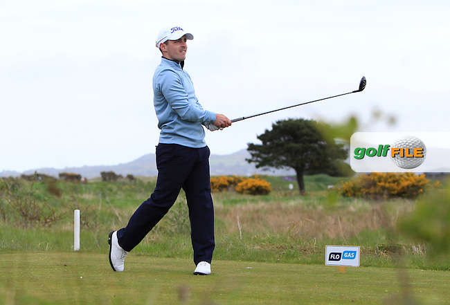 Daniel Holland (Castle) on the 17th tee during Round 2 of the Flogas Irish Amateur Open Championship at Royal Dublin on Friday 6th May 2016.<br /> Picture:  Thos Caffrey / www.golffile.ie