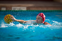STANFORD, CA - February 4, 2018: Cassidy Wiley at Avery Aquatic Center. The Stanford Cardinal defeated Long Beach State 14-2.