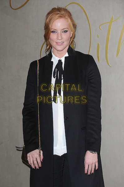 LONDON, ENGLAND - NOVEMBER 3: Sarah-Jane Mee attends the Burberry Festive Film Premiere at Burberry Regent Street on November 3, 2015 in London, England.<br /> CAP/BEL<br /> &copy;BEL/Capital Pictures
