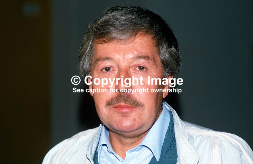 Jack Taylor, president, Yorkshire section, NUM, Nation Union of Mineworkers, UK, 19870907JT..Copyright Image from Victor Patterson, 54 Dorchester Park, Belfast, UK, BT9 6RJ..Tel: +44 28 9066 1296.Mob: +44 7802 353836.Voicemail +44 20 8816 7153.Skype: victorpattersonbelfast.Email: victorpatterson@me.com.Email: victorpatterson@ireland.com (back-up)..IMPORTANT: If you wish to use this image or any other of my images please go to www.victorpatterson.com and click on the Terms & Conditions. Then contact me by email or phone with the reference number(s) of the image(s) concerned.