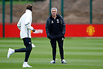 Manchester United manager Jose Mourinho talks with Paul Pogba during the Manchester United open training session at the Carrington Training Centre, Manchester. Picture date: May 19th 2017. <br /> Pic credit should read: Matt McNulty/Sportimage