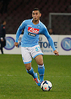 Faouzi Ghoulan     in action during the Italian Serie A soccer match between SSC Napoli and AS Roma   at San Paolo stadium in Naples, March 09 , 2014