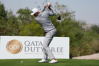 Adrian Meronk (POL) on the 2nd during the Pro-Am of the Commercial Bank Qatar Masters 2020 at the Education City Golf Club, Doha, Qatar . 04/03/2020<br /> Picture: Golffile   Thos Caffrey<br /> <br /> <br /> All photo usage must carry mandatory copyright credit (© Golffile   Thos Caffrey)