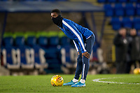 12th February 2020; McDairmid Park, Perth, Perth and Kinross, Scotland; Scottish Premiership Football, St Johnstone versus Motherwell; Isaiah Jones of St Johnstone during the warm up before the match