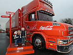 Fiona, Emmet and Caomhin McShane who visited the Coca Cola truck at Southgate shopping centre. Photo:Colin Bell/pressphotos.ie