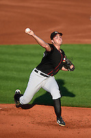 Quad Cities River Bandits pitcher Andrew Thurman (30) delivers a pitch during a game against the Cedar Rapids Kernels on August 18, 2014 at Perfect Game Field at Veterans Memorial Stadium in Cedar Rapids, Iowa.  Cedar Rapids defeated Quad Cities 5-3.  (Mike Janes/Four Seam Images)